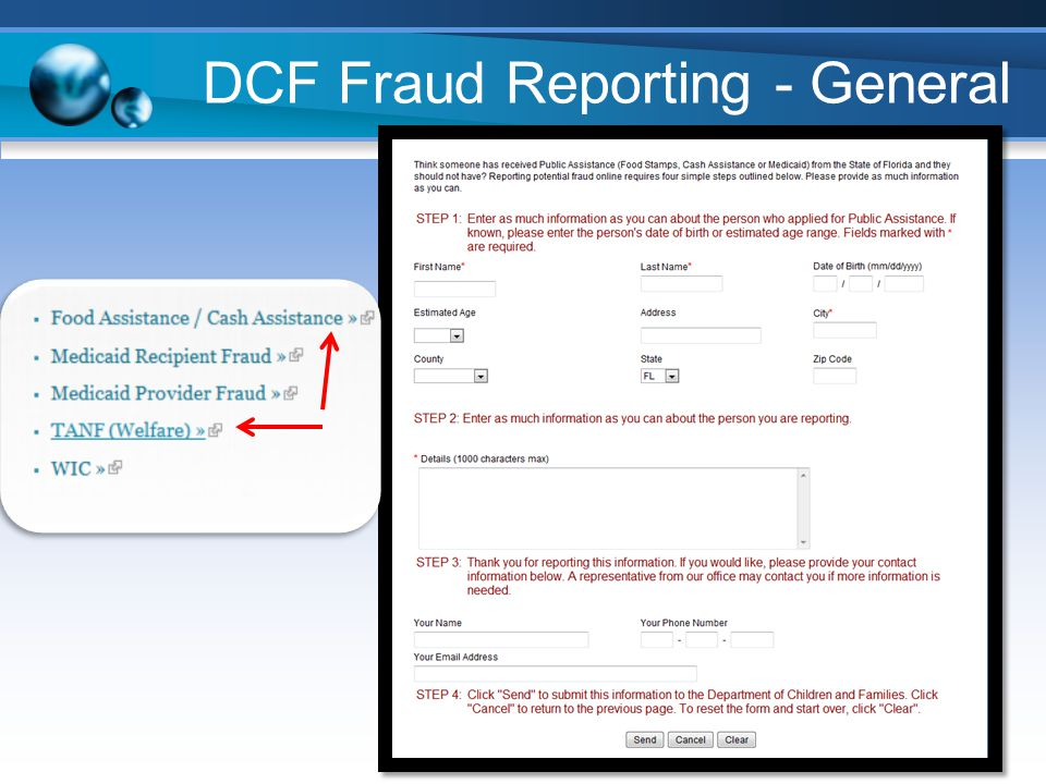 DCF Fraud Reporting - General