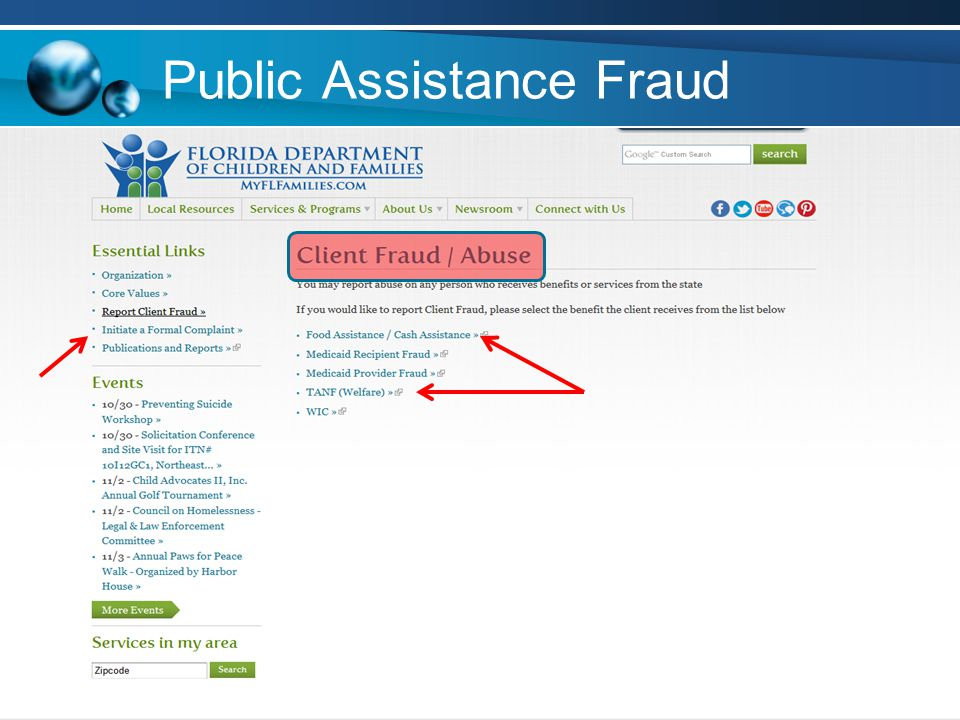 Public Assistance Fraud