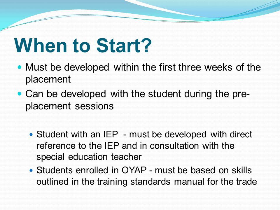 When to Start.