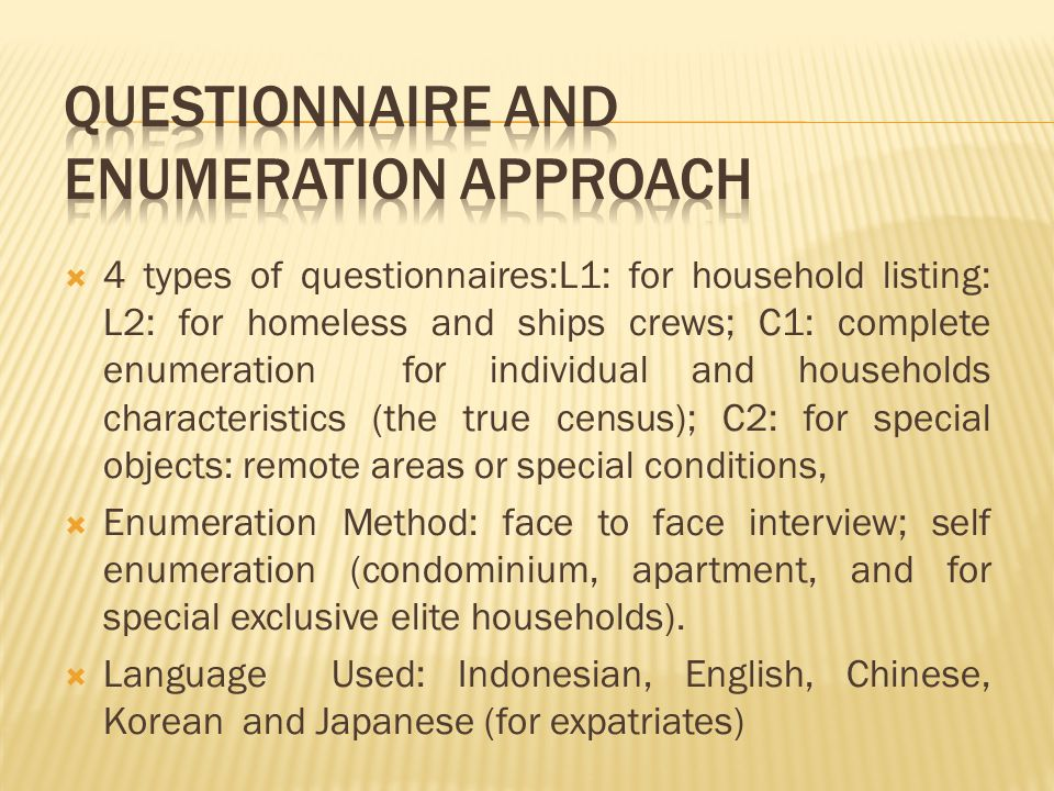 Cost for enumerators: Malaysia paid 250 ringgit or equivalent to US $ 83.3 per month per enumerator.