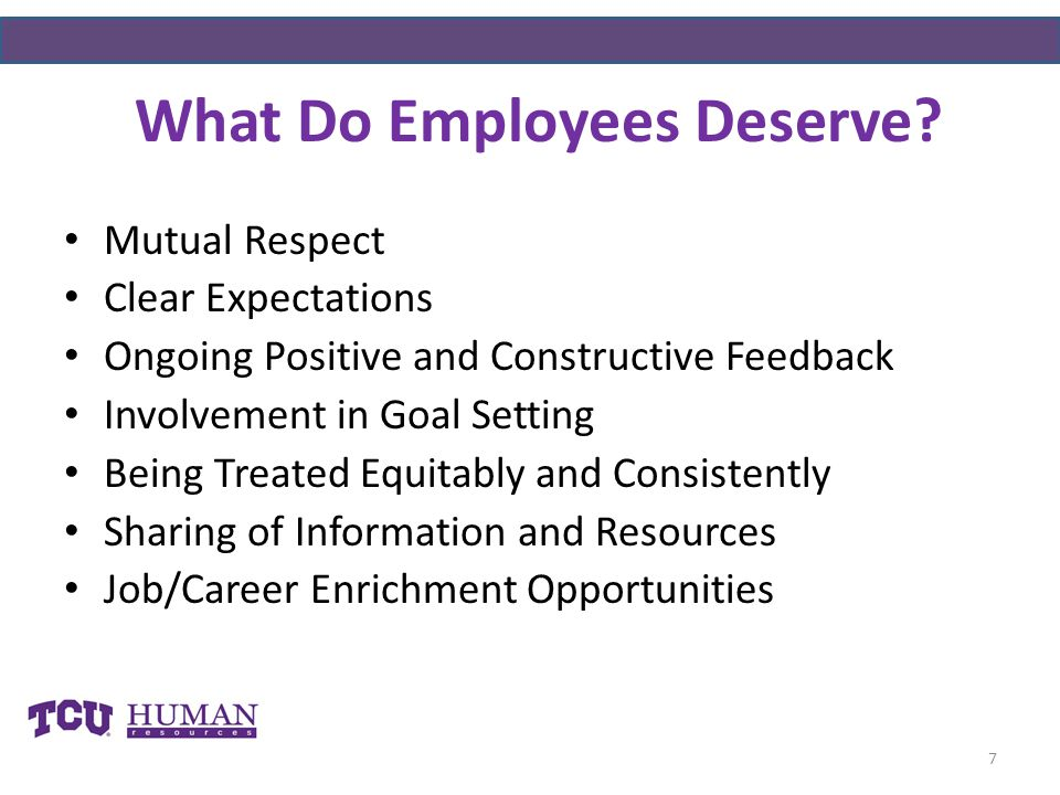 What Do Employees Deserve.