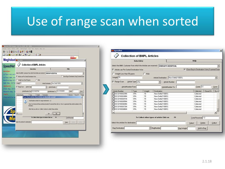 Use of range scan when sorted 2.1.18