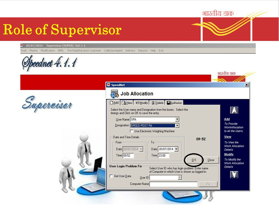 Role of Supervisor