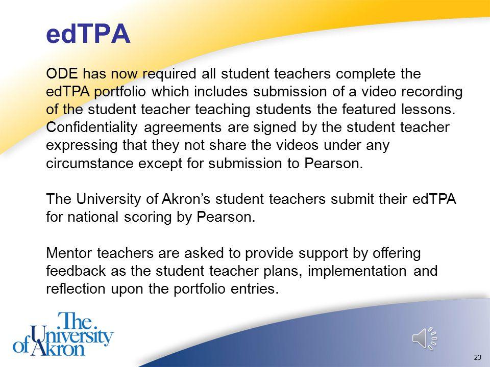 Part 4: edTPA (Teacher Performance Assessment) 22