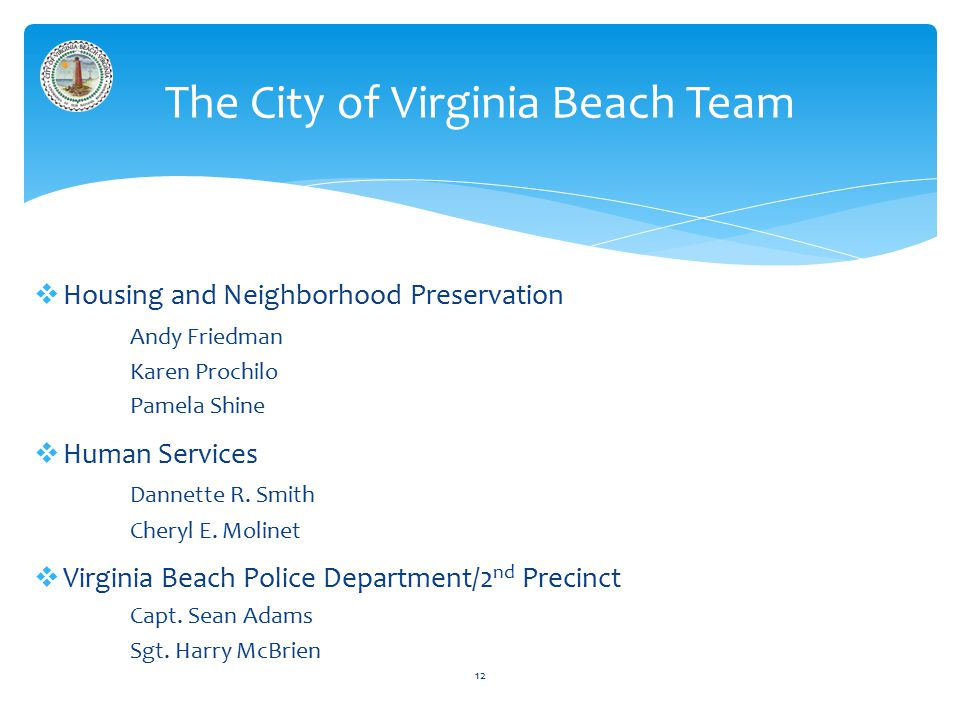  Housing and Neighborhood Preservation Andy Friedman Karen Prochilo Pamela Shine  Human Services Dannette R.