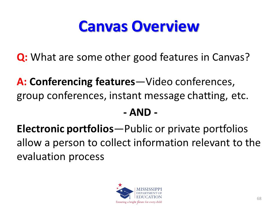 Canvas Overview Q: What are some other good features in Canvas.