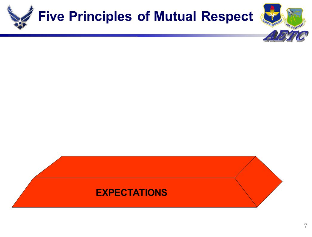 7 Five Principles of Mutual Respect EXPECTATIONS