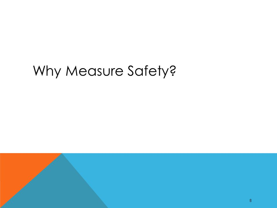 Why Measure Safety? 8