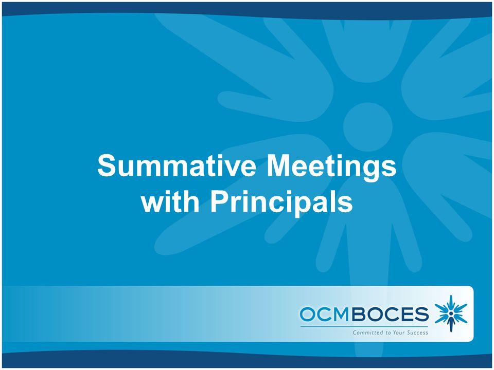Summative Meetings with Principals