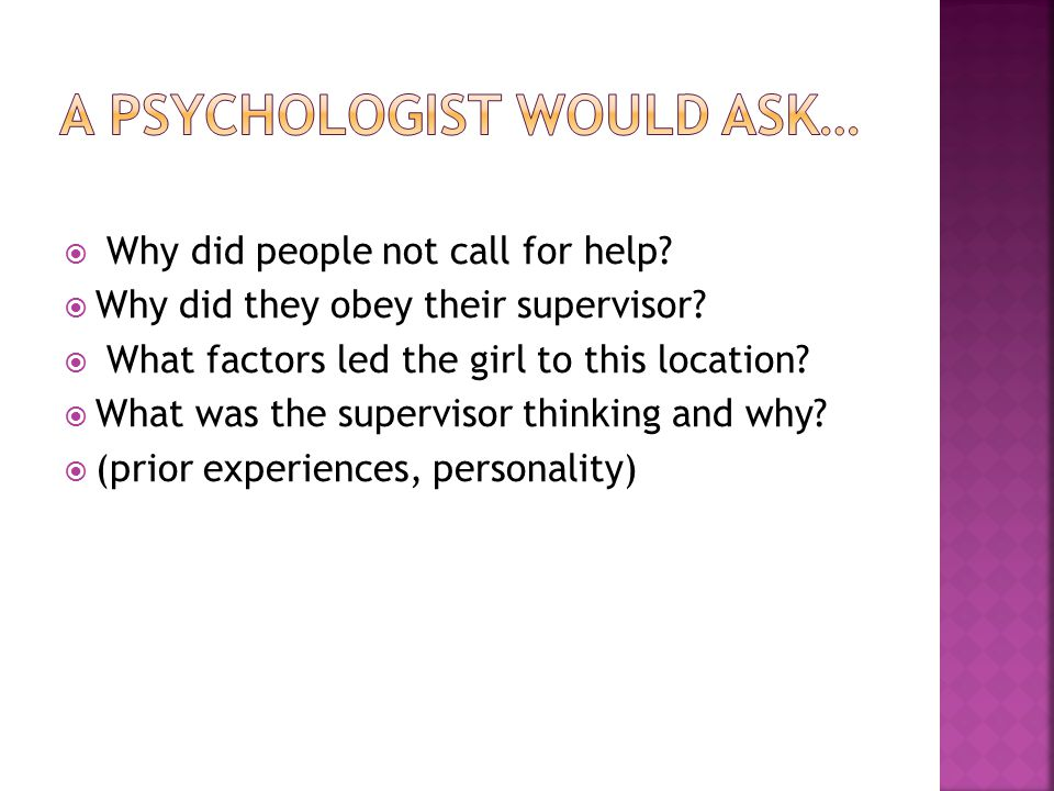  How might an anthropologist, psychologist and a sociologist explain the following incidents.