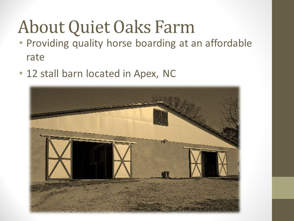 My Supervisor Pat Conaway Owner Barn manager Also employed at AKC