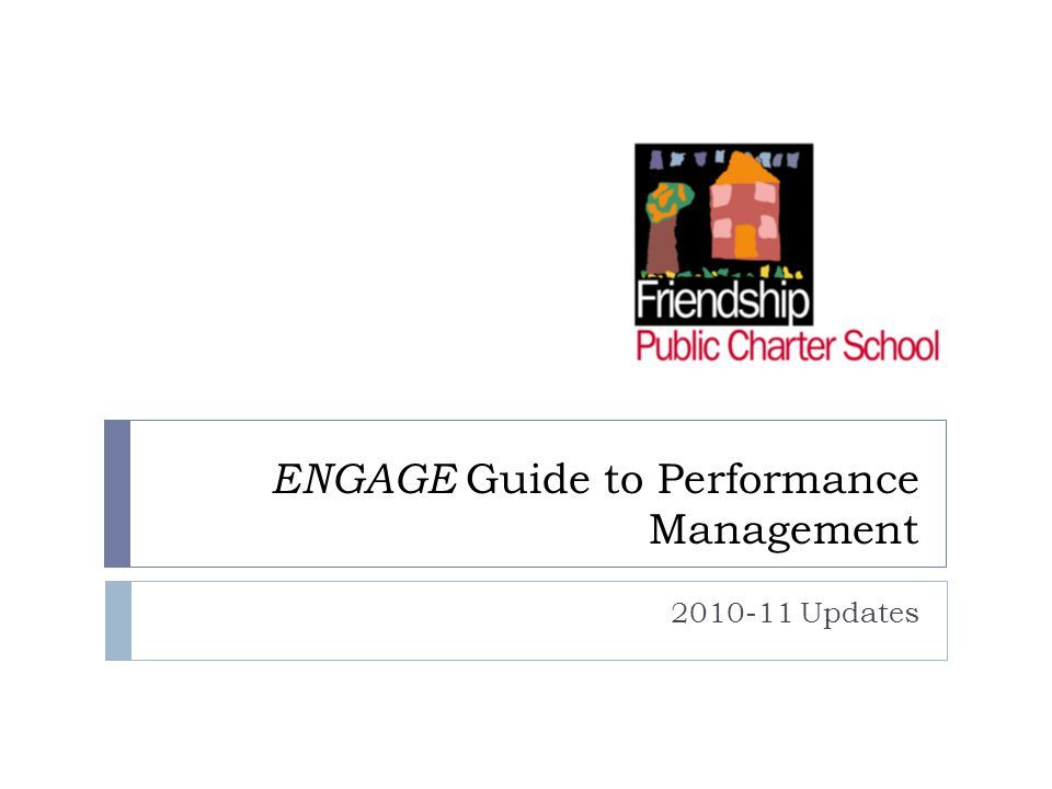 ENGAGE Guide to Performance Management 2010-11 Updates