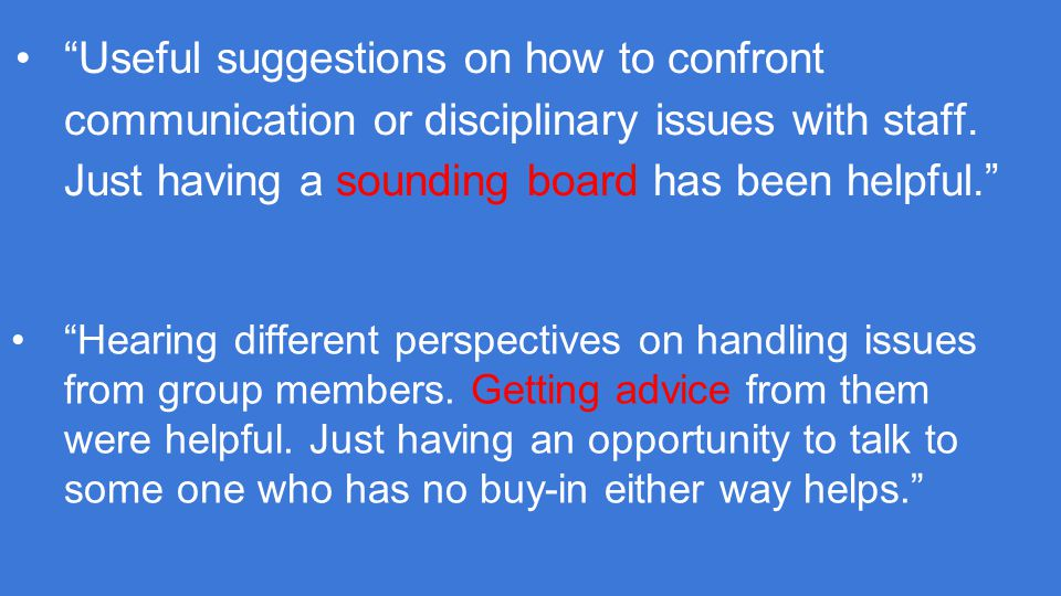 Useful suggestions on how to confront communication or disciplinary issues with staff.