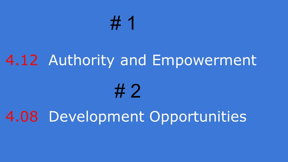 4.12 Authority and Empowerment 4.08 Development Opportunities # 1 # 2
