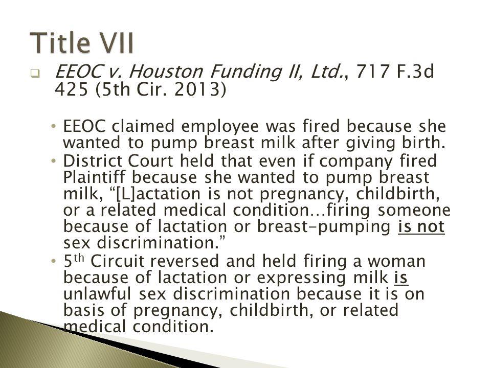  EEOC v. Houston Funding II, Ltd., 717 F.3d 425 (5th Cir.