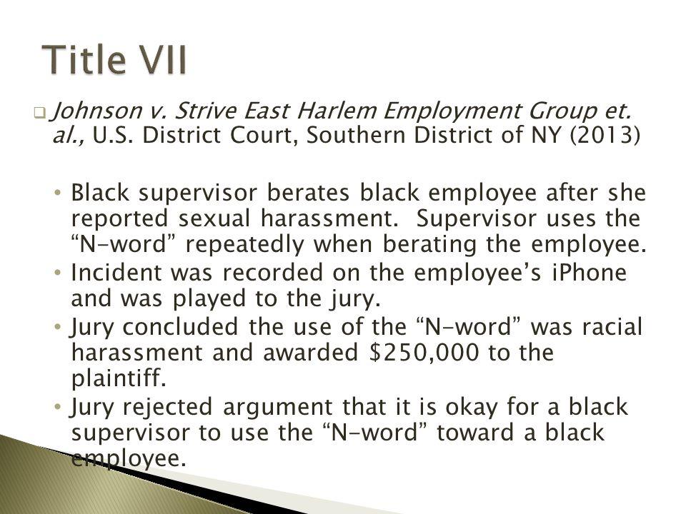  Johnson v. Strive East Harlem Employment Group et.