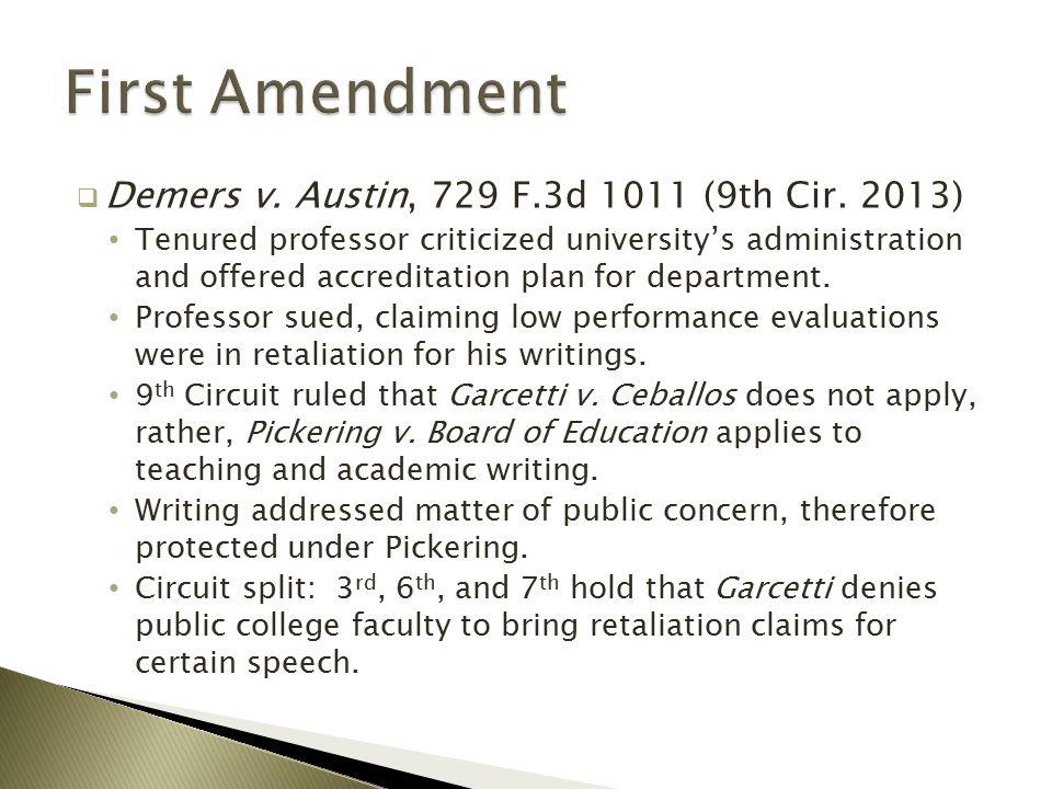  Demers v. Austin, 729 F.3d 1011 (9th Cir.