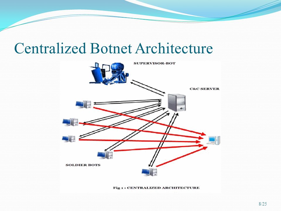 Centralized Botnet Architecture 8/25