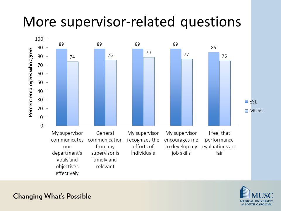 More supervisor-related questions