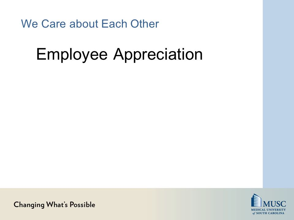 We Care about Each Other Employee Appreciation