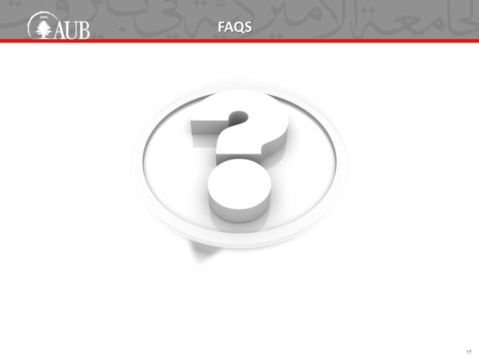 FAQS 17