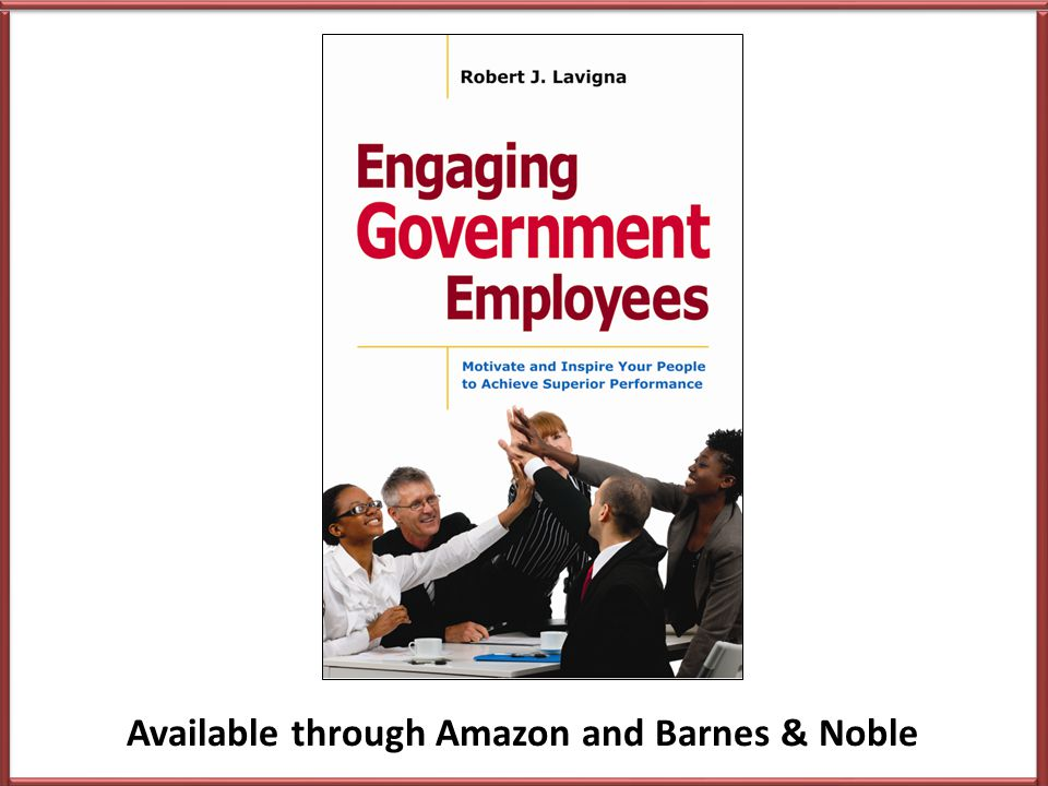 Key Take-Aways Employee engagement matters Engagement levels are low But can be improved Engagement should be measured Survey results must be acted on Engagement is not just an initiative or program HR has critical role – champion, facilitator and model
