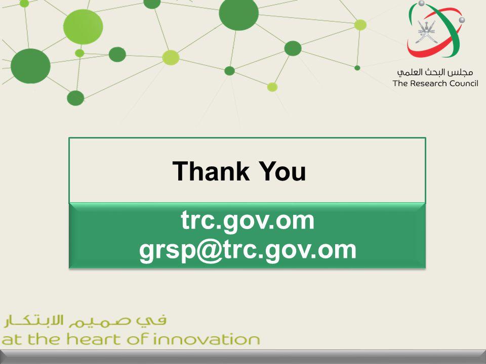 Thank You trc.gov.om grsp@trc.gov.om trc.gov.om grsp@trc.gov.om