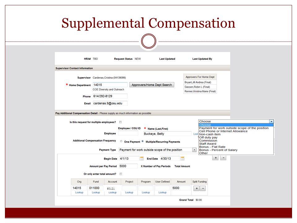 Supplemental Compensation 60121