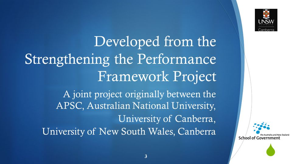 Background: Strengthening the Performance Framework project  Ahead of the Game Blueprint for Reform (2010)  Performance management and employee engagement  SOSR findings  Literature  International Comparisons  Capability Reviews  Primary Data