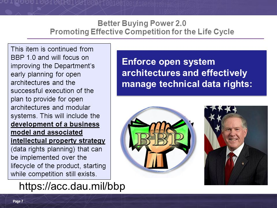 Coordinated Suite of Products DoD OSA Contract Guidebook DoD Open Marketplace Strategic use of IP Rights Page 18 Open Business Model & IP Strategy Under Construction