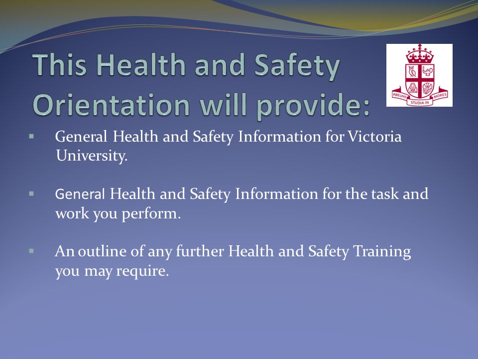 For General Information  Occupational Health and Safety Act  WHMIS  University Policy  Programs & Procedures Please refer to the Health and Safety bulletin boards or visit the web site at www.vicu.utoronto.ca/about/hr/Health_and_Safety.htmwww.vicu.utoronto.ca/about/hr/Health_and_Safety.htm