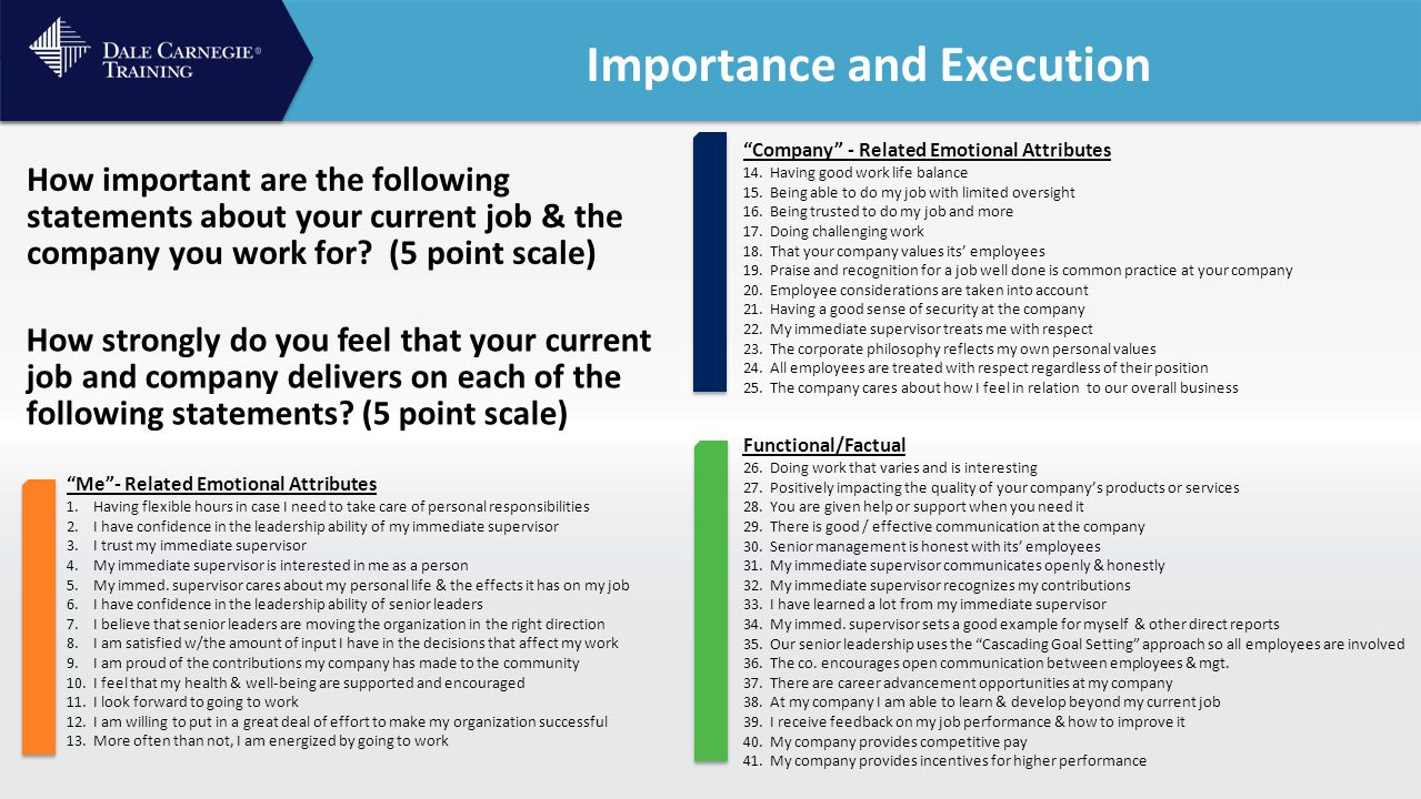Training for Team members to be more engaged Next Steps for Creating Engaged Employees Training for Leaders and Managers to be the person who creates an environment of engagement 1 2 Facilitation for Senior Leadership to help set an engagement strategy 3