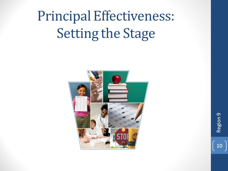 10 Principal Effectiveness: Setting the Stage Region 9