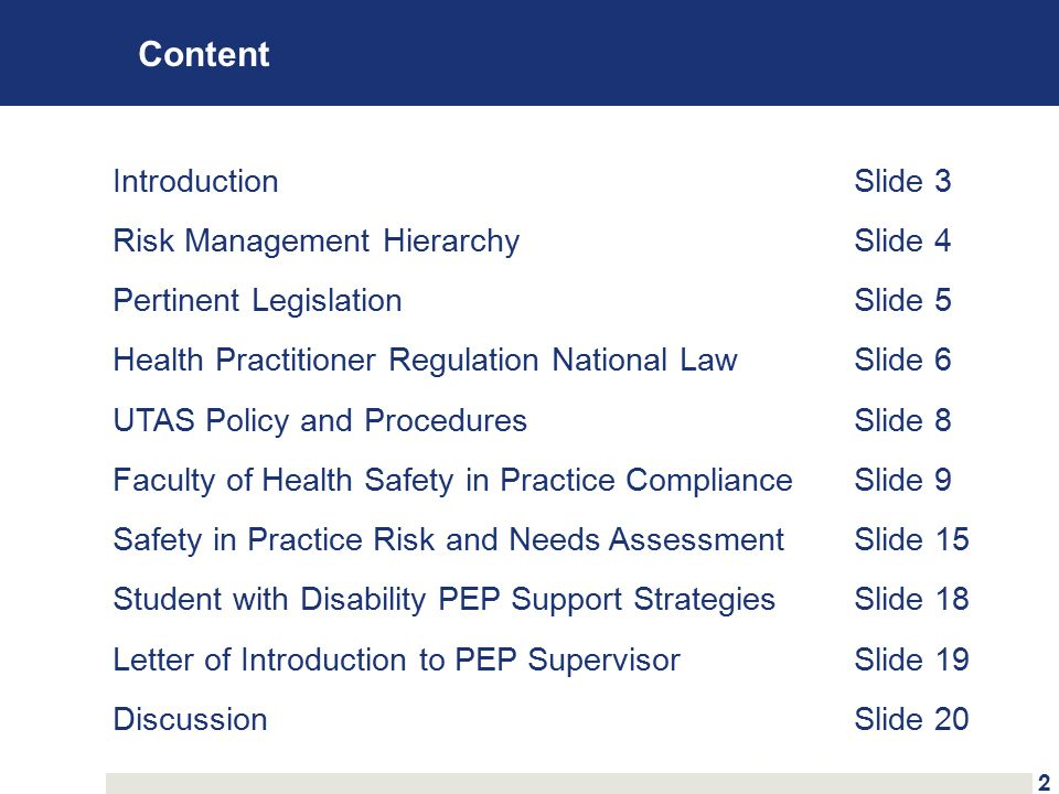 Faculty of Health Safety in Practice Compliance 4.