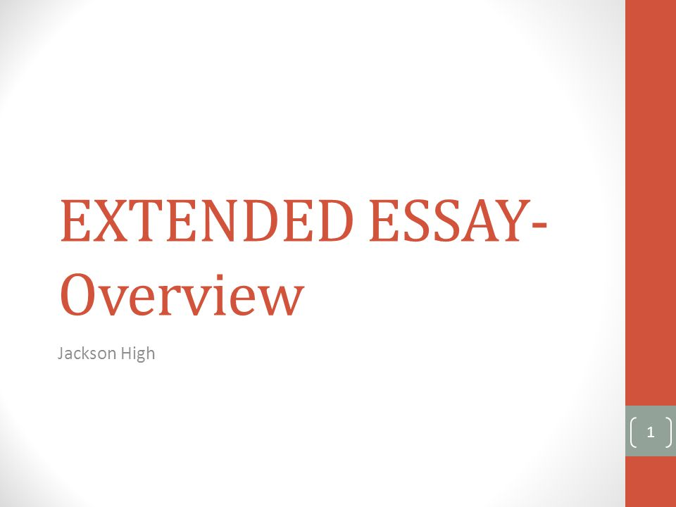 What is the Extended Essay.The Extended Essay is: compulsory for all Diploma Programme students.