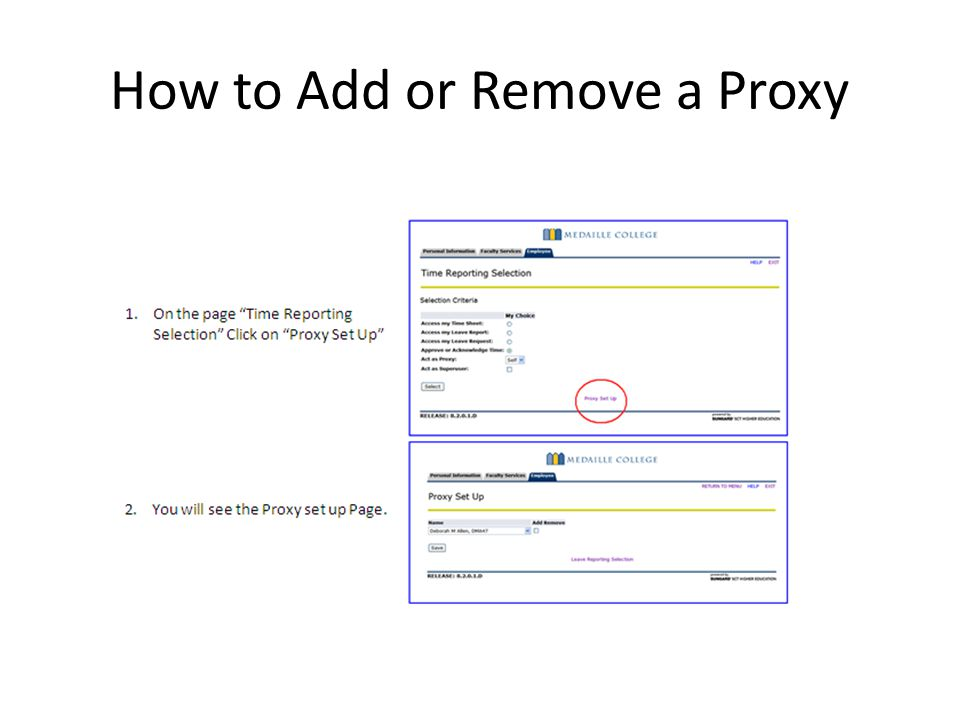 How to Add or Remove a Proxy