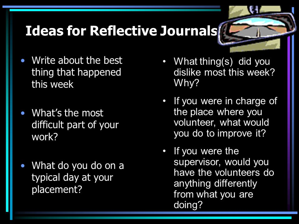 What is a Reflective Journal.