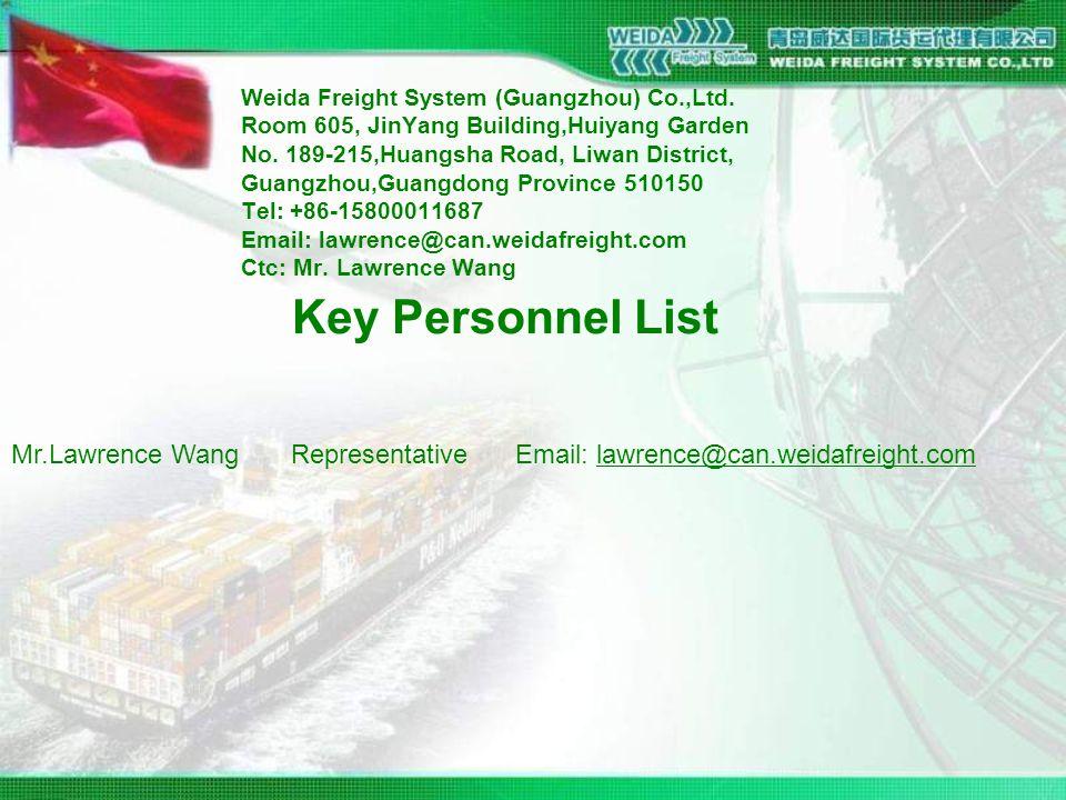 Weida Freight System (Guangzhou) Co.,Ltd. Room 605, JinYang Building,Huiyang Garden No.