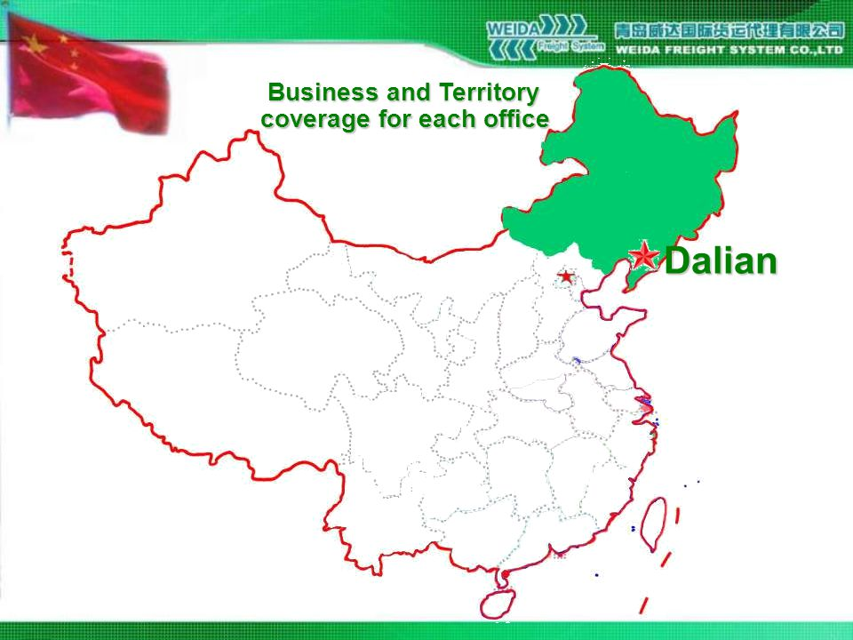 Dalian Business and Territory coverage for each office