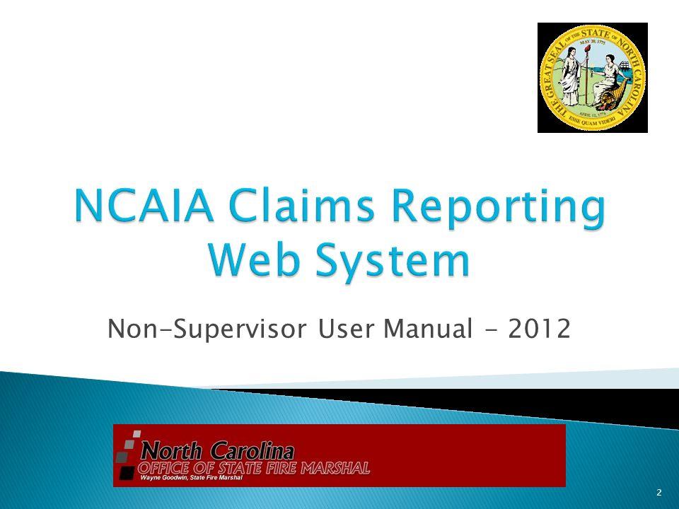 Non-Supervisor User Manual - 2012 2