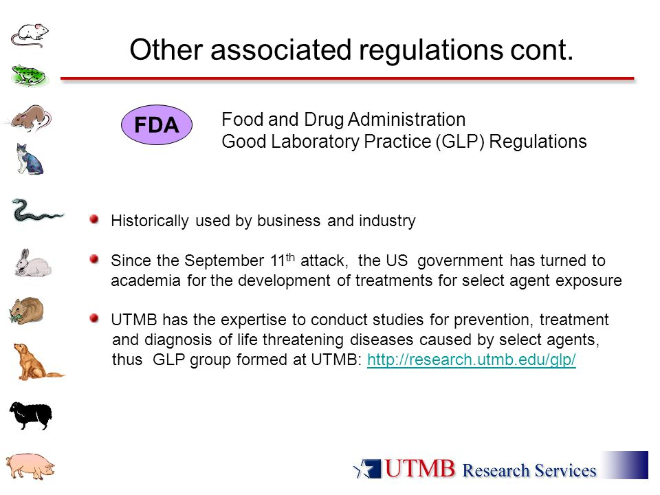Other associated regulations cont.