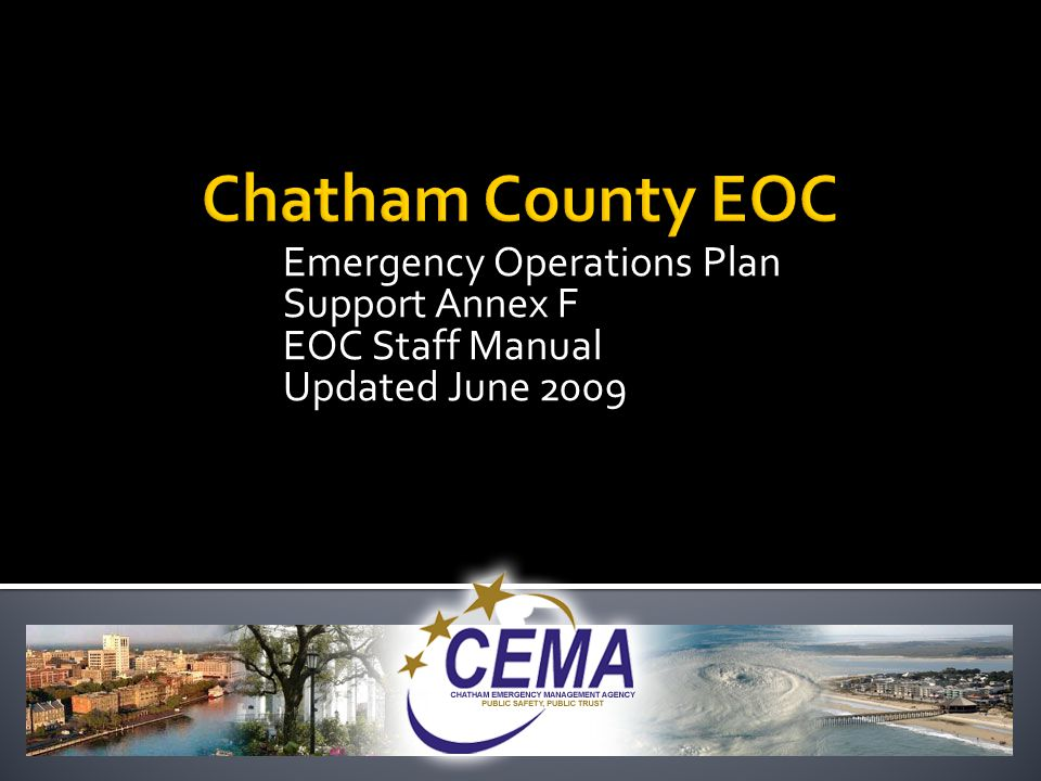  Develops the plan for staging and housing of response personnel  Ensures that an adequate safe and healthy facility can sleep, support and feed all responders  Develops a security plan for all facilities  Orders necessary supplies and support items.