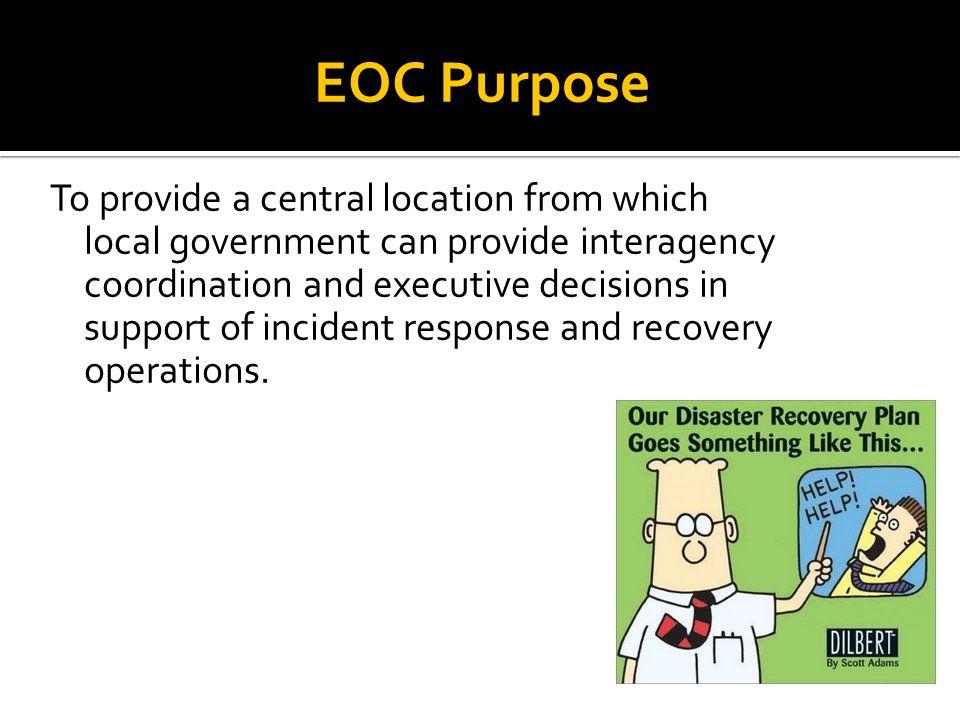 EOC vs ICS POLICY COORDINATION OPERATIONAL RESPONSE RESPONDERS EOC ICS