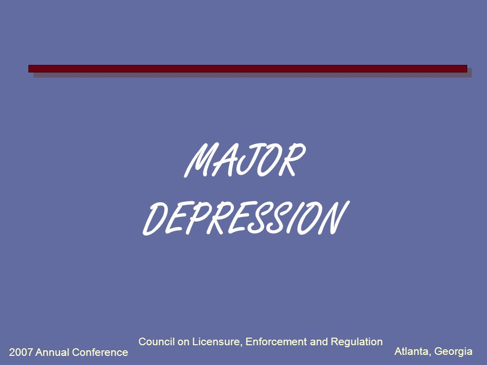 Atlanta, Georgia 2007 Annual Conference Council on Licensure, Enforcement and Regulation David T George, MD, Section of Clinical Studies, NIAAA
