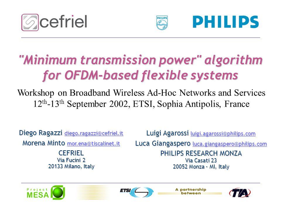 - 2 - Summary The Wind-Flex System Flexibility, Adaptivity, Reconfigurability The Supervisor Unit Proposed Algorithm Simulation Results Standardisation Issues Future Developments