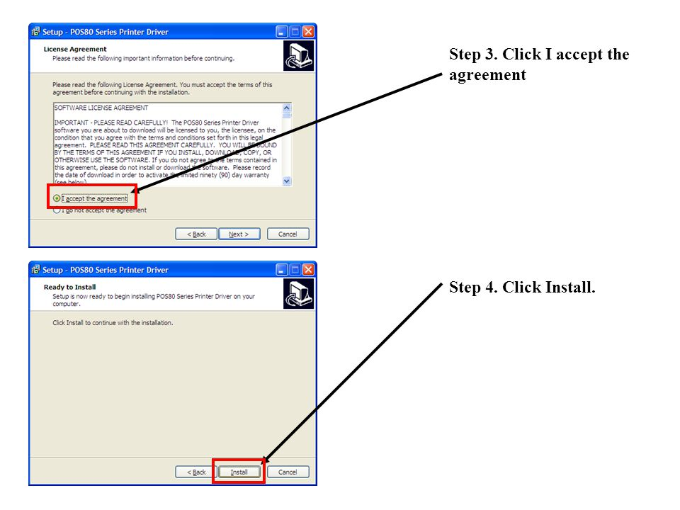 Step 5. Click the Large button. Step 6. Click continue