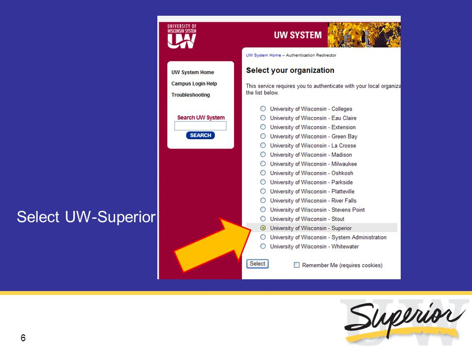 6 Select UW-Superior