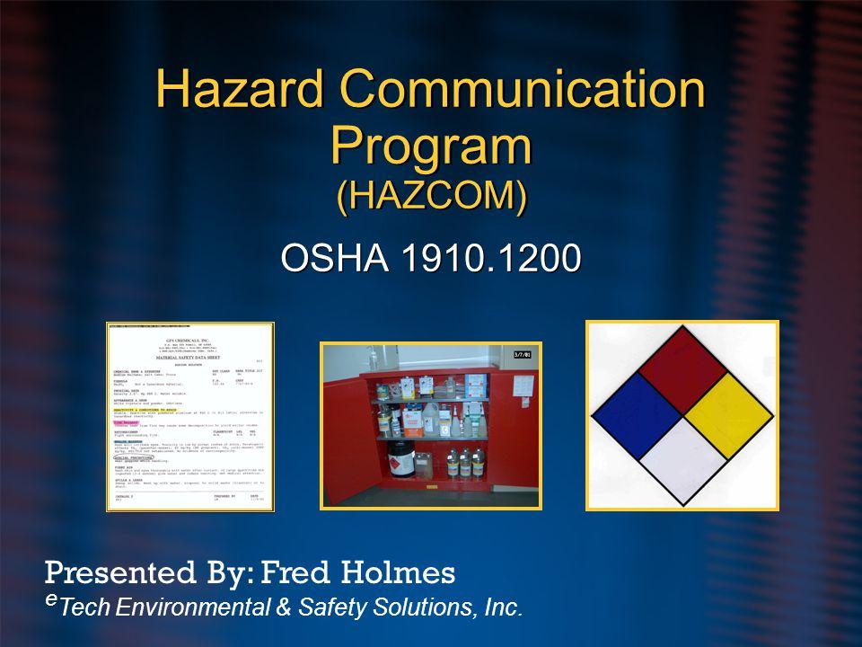 Health Hazards – cont.