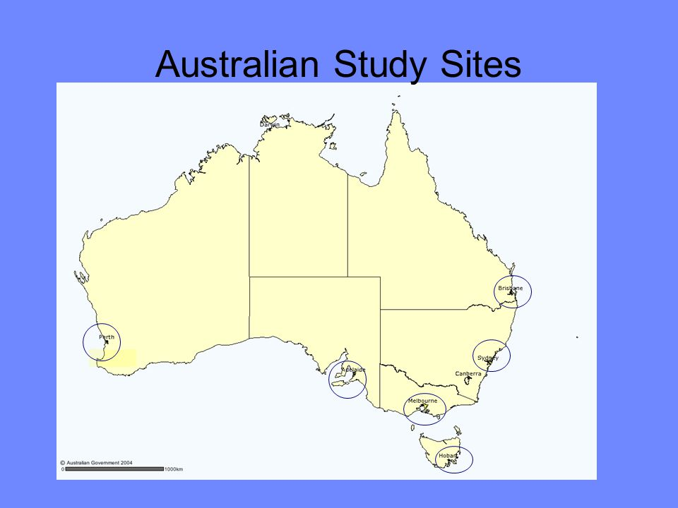 Australian Study Sites