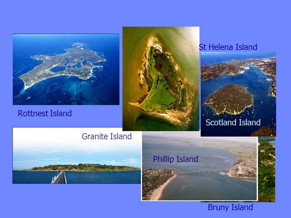 Granite Island Phillip Island Scotland Island St Helena Island Rottnest Island Bruny Island